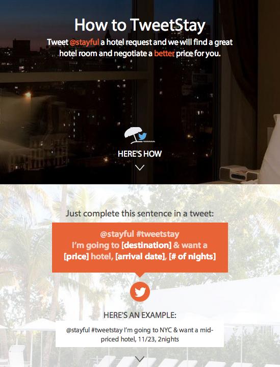 Réserver votre hôtel avec Twitter