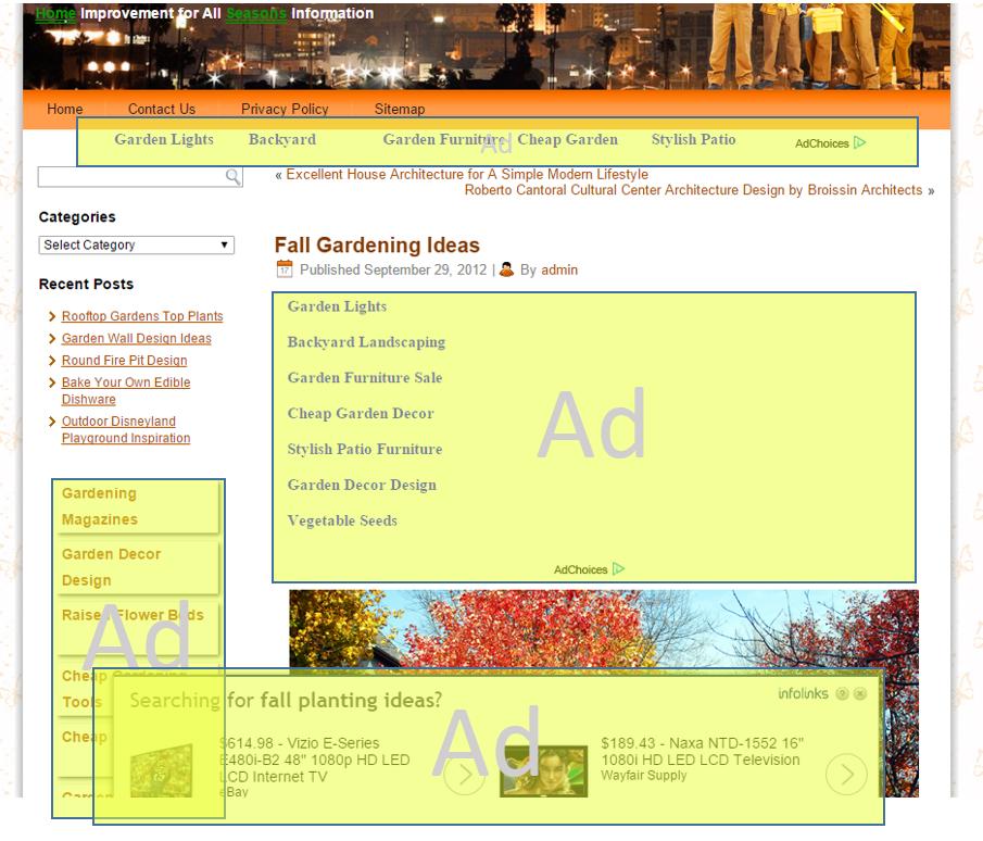 Exemple problématique en référencement web sur Bing