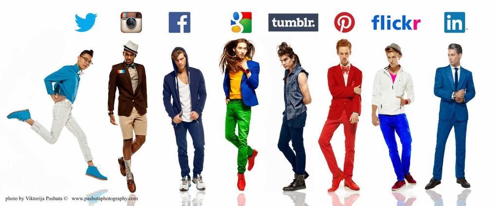 Si les gars étaient des réseaux sociaux, de quoi ils auraient l'air?