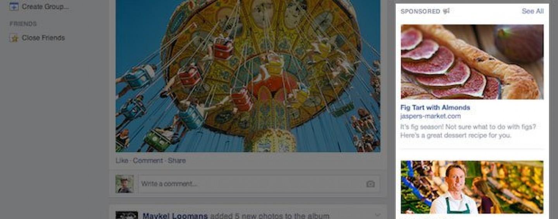 Facebook : la colonne de droite donne de meilleurs résultats